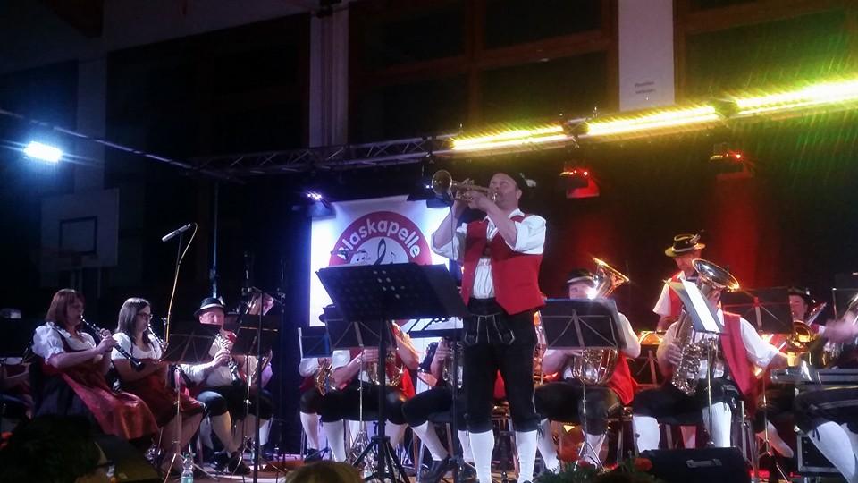 Solo-Trompeter beim Konzert in Grainet 2016